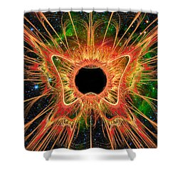 Cosmic Butterfly Phoenix Shower Curtain