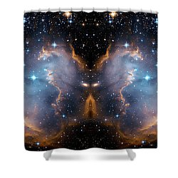Cosmic Butterfly Shower Curtain by Jennifer Rondinelli Reilly - Fine Art Photography