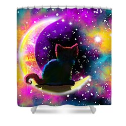 Cosmic Cat Shower Curtain