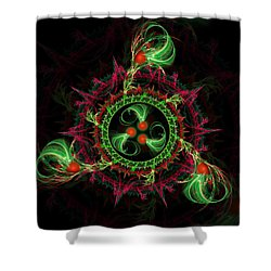 Cosmic Cherry Pie Shower Curtain