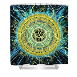 Cosmic Circle Fusion Shower Curtain