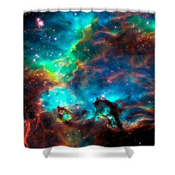 Cosmic Cradle 2 Star Cluster Ngc 2074 Shower Curtain