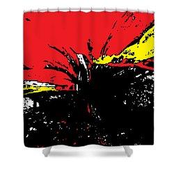 Cosmic Shower Curtain by Dani Abbott