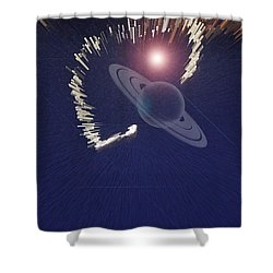 Cosmic Event Shower Curtain by Augusta Stylianou