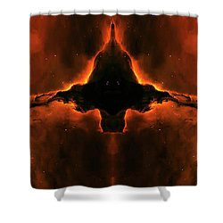 Cosmic Fire Fish Shower Curtain by Jennifer Rondinelli Reilly - Fine Art Photography