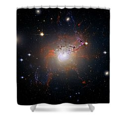 Cosmic Fireworks Shower Curtain by Jennifer Rondinelli Reilly - Fine Art Photography