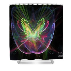 Cosmic Flight Shower Curtain by Peter R Nicholls