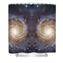 Cosmic Galaxy Reflection Shower Curtain by Jennifer Rondinelli Reilly - Fine Art Photography
