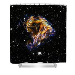 Cosmic Heart Shower Curtain