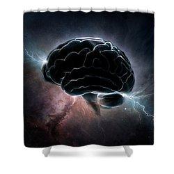 Cosmic Intelligence Shower Curtain