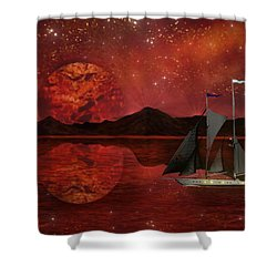 Cosmic Ocean Shower Curtain
