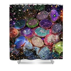 Cosmic Ovule Shower Curtain