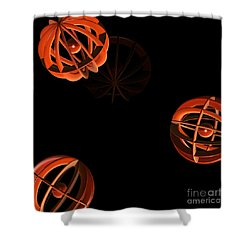 Cosmic Pumpkins By Jammer Shower Curtain by First Star Art