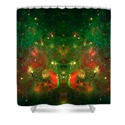Cosmic Reflection 1 Shower Curtain by Jennifer Rondinelli Reilly - Fine Art Photography