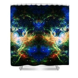 Cosmic Reflection 2 Shower Curtain by Jennifer Rondinelli Reilly - Fine Art Photography