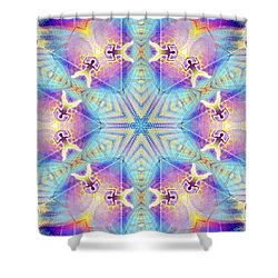 Cosmic Spiral Kaleidoscope 17 Shower Curtain