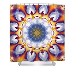 Cosmic Spiral Kaleidoscope 34 Shower Curtain