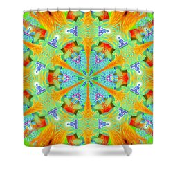 Cosmic Spiral Kaleidoscope 41 Shower Curtain
