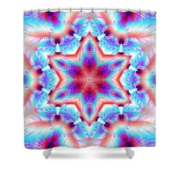 Cosmic Spiral Kaleidoscope 45 Shower Curtain