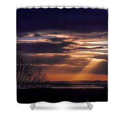 Cosmic Spotlight On Shannon Airport Shower Curtain