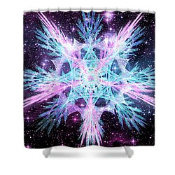 Cosmic Starflower Shower Curtain
