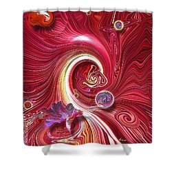 Cosmic Waves Shower Curtain