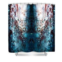 Cosmic Winter Shower Curtain by Jennifer Rondinelli Reilly - Fine Art Photography