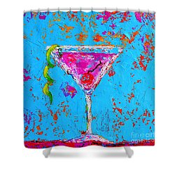 Cosmopolitan Martini Cherry Flavored - Modern Art Shower Curtain