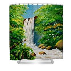 Costa Rica Waterfall Shower Curtain