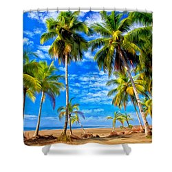 Costa Rican Paradise Shower Curtain by Michael Pickett