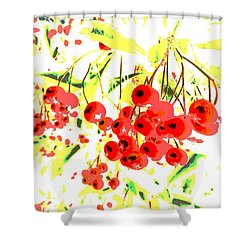 Shower Curtain featuring the photograph Cotoneaster by Barbara Moignard