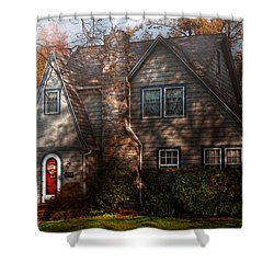 Cottage - Cranford Nj - Autumn Cottage  Shower Curtain by Mike Savad