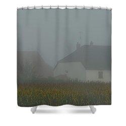 Cottage In Mist Shower Curtain