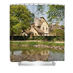 Cottage In The Hameau De La Reine Shower Curtain