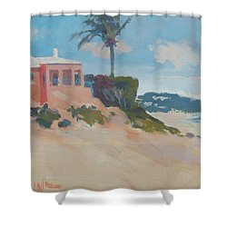 Cottage On The Water Shower Curtain by Dianne Panarelli Miller