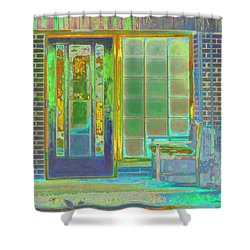 Shower Curtain featuring the photograph Cottage Porch by Don and Judi Hall