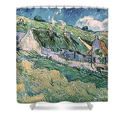 Cottages At Auvers Sur Oise Shower Curtain by Vincent Van Gogh