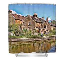Cottages At Avoncliff Shower Curtain