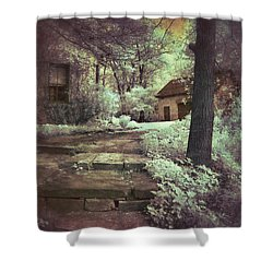 Cottages In The Woods Shower Curtain by Jill Battaglia