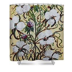 Cotton #1 - King Cotton Shower Curtain by Eloise Schneider