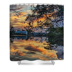 Cotton Bayou Sunrise Shower Curtain by Michael Thomas