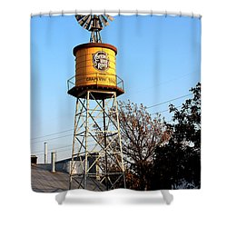Cotton Belt Route Water Tower In Grapevine Shower Curtain