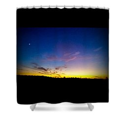 Shower Curtain featuring the photograph Cotton Candy Clouds by Jean Haynes