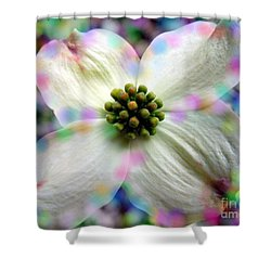 Cotton Candy Flower Shower Curtain by Renee Trenholm
