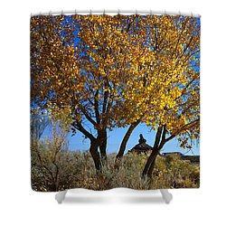 Cottonwood And Nipple Butte Shower Curtain
