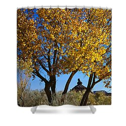Cottonwood And Nipple Butte-v Shower Curtain