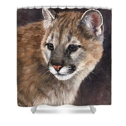 Cougar Cub Painting Shower Curtain