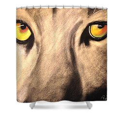 Cougar Eyes Shower Curtain