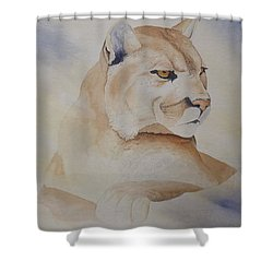 Cougar On Watch Shower Curtain