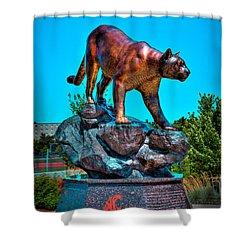 Cougar Pride Sculpture - Washington State University Shower Curtain by David Patterson